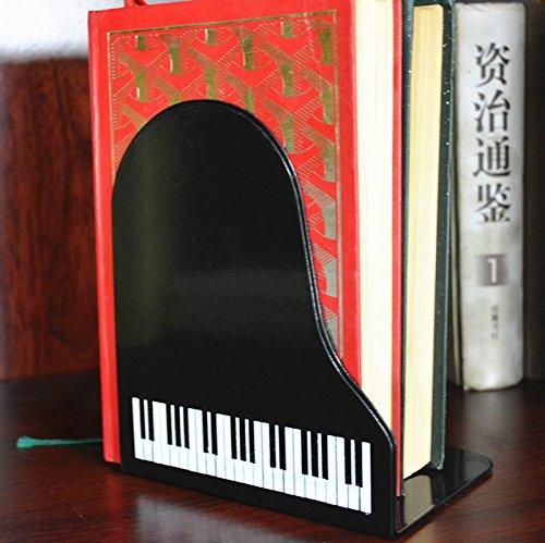 Lotw a pair of creative art gift black piano nonskid bookend bookends home garden decor - Piano bookends ...