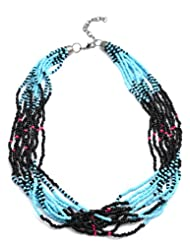 Laron Handicrafts Black And Tarq Necklace For Women