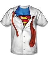 Superman I'M Superman Mens Short Sleeve 100% Poly Sublimation Crew Shirt