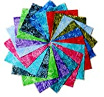 "80 5"" Batik Tonal Quilting Fabric Charm Pack"