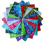"""80 5"""" Batik Tonal Quilting Fabric Cha..."""