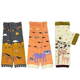 Bowbear Baby 3-Pair Leg Warmers, Horse, Cat, Deer