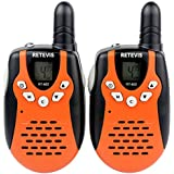 Retevis RT-602 Walkie Talkies Rechargeable 22 Channel FRS/GMRS UHF 462.5625-467.7250MHz for Kids 2 Way Radio (Orange,2 Pack)