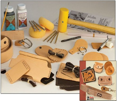 Tandy Leather Deluxe Leathercraft Set 55502-00 (Leather Tooling Kit compare prices)