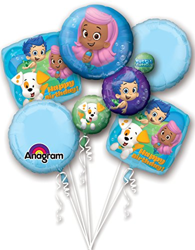 Anagram International Bubble Guppies Happy Birthday Package Bouquet, Multicolor