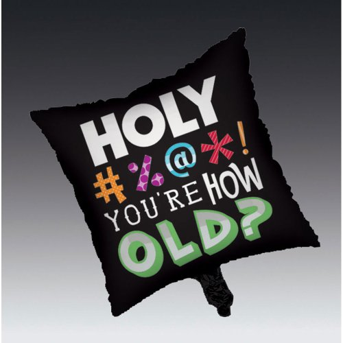 Creative Converting Holy Bleep 2-Sided Square Mylar Balloon