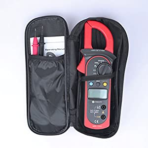 Etekcity MSR-C600 Digital Clamp Meter & Multimeter with AC / DC Voltage Test, Red