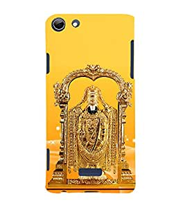 Golden Venkateswara 3D Hard Polycarbonate Designer Back Case Cover for Micromax Canvas Selfie 3 Q348