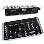"EMB MIX7UB 19"" Rack Mount 4 Channel Professional Mixer w/USB, Adjustable cross faders and more from EMB"