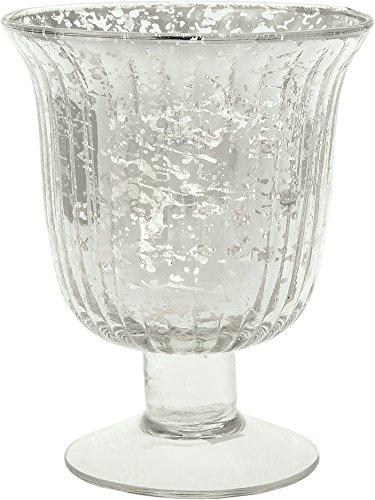 Luna Bazaar Vintage Mercury Glass Vase (5-Inch, Emma Design, Fluted Urn, Silver) - Decorative Flower Vase - For Home Decor and Wedding Centerpieces (Metallic Urn compare prices)