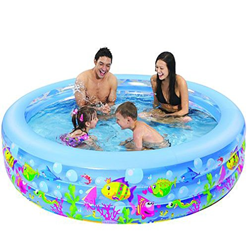 "Jilong Swim Center Round 73"" X 20"" Inflatable 20"" Deep Aquarium Theme Pool"