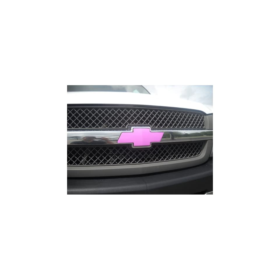 Chevrolet Bowtie Vinyl Decal Wrap Pink Color Cover for Chevy Truck