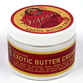 Pure Island Organic Exotic Body Butter Cream 10oz