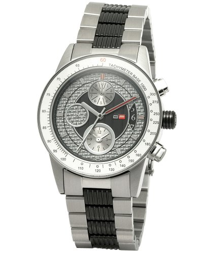 DFactory Men's DFW010SWC Black Label Silver Dial Bracelet Chronograph Watch
