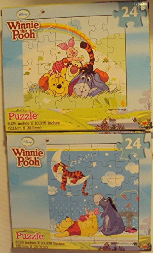 Disney Winnie the Pooh 24 Piece Jigsaw Puzzles (Set of 2)