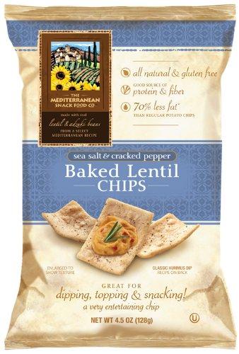 Mediterranean Snack Food, Baked Cracked Pepper Lentil Chip, 12/4.5 Oz