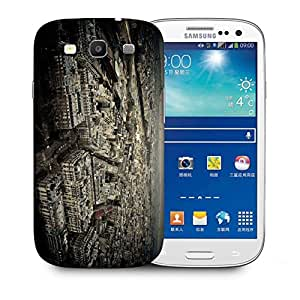 Snoogg White Buildings Printed Protective Phone Back Case Cover For Samsung S3 / S III