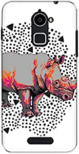 The Racoon Lean Rhino Footprints hard plastic printed back case/cover for Coolpad Note 3 Plus