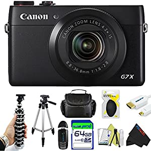 Canon PowerShot G7 X Digital Camera + Pixi-Advanced Accessory Bundle