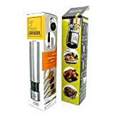 Salt and Pepper Electric Grinder - Spice Mill fine Adjustable Ceramic Blade with Stainless Steel
