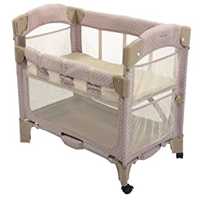 Arm's Reach Concepts Mini Arc Co-Sleeper Bedside Bassinet, Toffee Dot (Discontinued by Manufacturer)