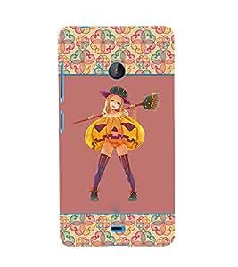 Fuson 3D Printed Girly Designer back case cover for Microsoft Lumia 540 - D4265