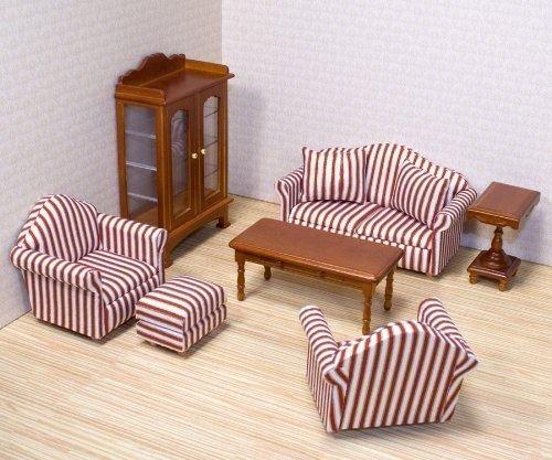 Melissa & Doug Deluxe Doll-House Furniture- Living Room Set New image