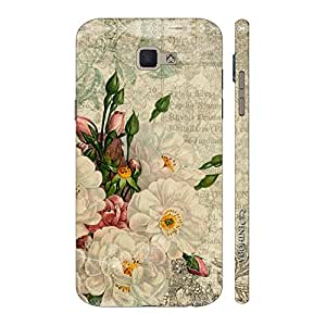 Enthopia Designer Hardshell Case White Flower Touch Back Cover for Samsung Galaxy J7 Prime SM-G610F