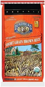 Lundberg Organic Short Grain Brown Rice, 25-Pound