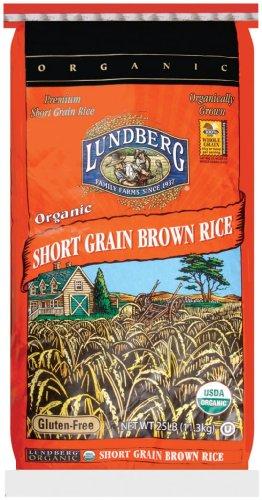 Lundberg Organic Short Grain Brown Rice, 25 Pound (Organic Whole Grain Brown Rice compare prices)