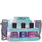 Orly Surreal Collection 2013 - Nail Lacquer Gift Set with FREE Holographic Clutch! Set includes: Pixie Powder, Angel Rain & Pink Waterfall(18mL) & Clutchbag.