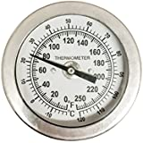"CNS 2"" Dial Thermometer 1/4"" NPT 316 Stainless Steel"