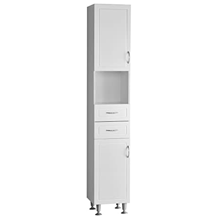 Aspen Floor Standing Bathroom Storage Cabinet with 2 Cabinets & 2 Drawers by Dr Bargain ®