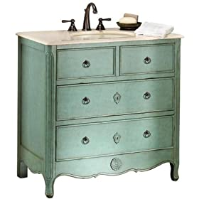 "Keys Vanity, 35""Hx36""W, ANTIQUE BLUE"