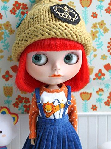 (ドーリア)Dollia ブライス 1/6ドール用 アウトフィット ライオン ラグランTシャツ ネオブライス ドール 人形 (Tシャツ)