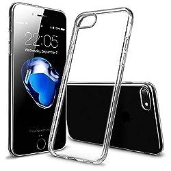 iPhone7ケース アイフォン7ケース,ESR シリコン ソフト TPU ケース【クリア 高透過率 極薄 超軽量】耐衝撃 0.8mm 保護カバー スマホケース スマートフォンケース (クリア)