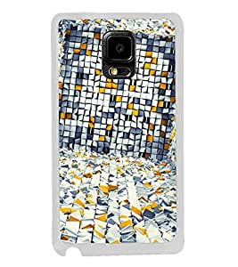 White Yellow Grey Pattern 2D Hard Polycarbonate Designer Back Case Cover for Samsung Galaxy Note 4 :: Samsung Galaxy Note 4 N910G :: Samsung Galaxy Note 4 N910F N910K/N910L/N910S N910C N910FD N910FQ N910H N910G N910U N910W8