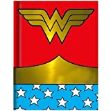 Silver Buffalo WW0150 DC Comics Wonder Woman Uniform Hard Cover Journal with Ribbon Book Mark, 160-Pages, 6 in. x 8 in