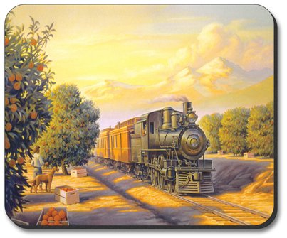 Decorative Mouse Pad Orange Blossom Special Train