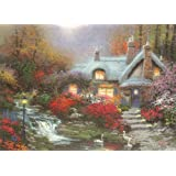 Gibsons Evening at Swanbrooke Cottage Jigsaw Puzzle by Thomas Kinkade 1000 Pieces