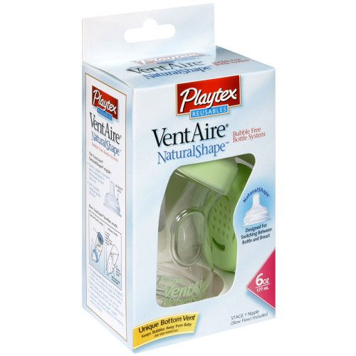 Playtex Ventaire Nipple Natural Shape Bottle Feeding, Fast Flow - 6 Oz front-929221