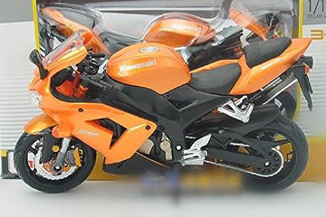 kawasaki ninja ZX-10R 2008 moto en alliage modele de jouets Vehicule Miniature Echelle 1/12