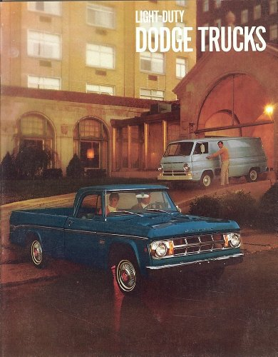 Original Sales Brochure - Catalog for 1969 Dodge Pick-up Truck & Power Wagon