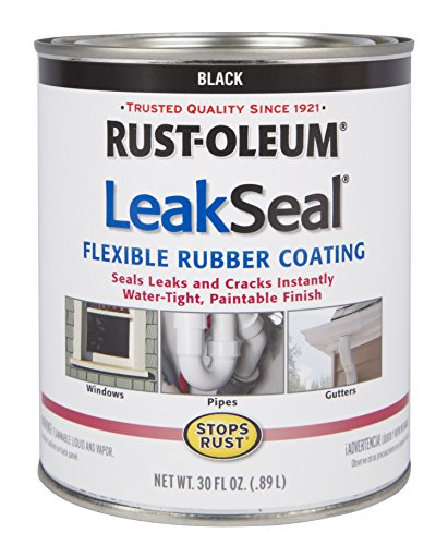 Rust-Oleum 271791 Stop Rust Leak Seal Flexible Rubber Coating Sealant, Black