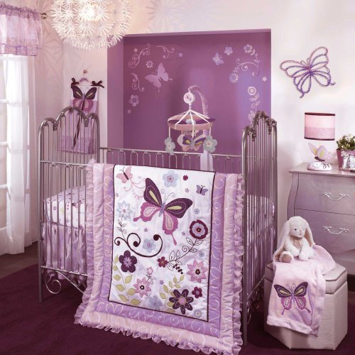 Lambs & Ivy 5 Count Bedding Set, Butterfly Lane image