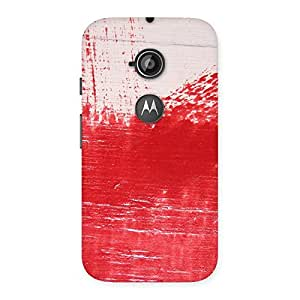 Red Fresh Texture Back Case Cover for Moto E 2nd Gen