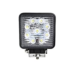 RR's 27W 9-LED White Light Square Car Work Light Flood Light