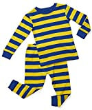 Leveret Little Boy Striped 2 Piece Pajama Set 100% Cotton (Size 2-5 Years) (5 Toddler, Blue & Yellow) Size: 5 Toddler Color: Blue & Yellow, Model: , Newborn & Baby Supply