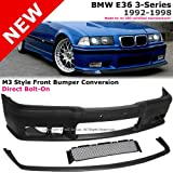BMW E36 3-Series 318i 320i 325i 328i 92-98 M3 PP Front Bumper Cover+Lip & Grille