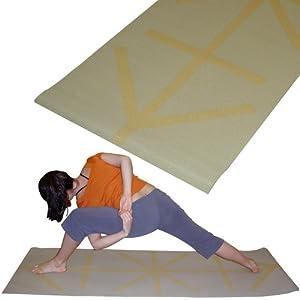 Amazon Com Yogadirect Deluxe Alignment Mat Beige Yoga